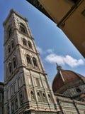 Dzwonkowy wierza Duomo w Florencja Fotografia Royalty Free