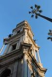 Dzwonkowy wierza katedra Pompei Zdjęcie Royalty Free