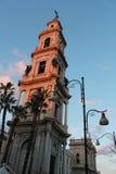 Dzwonkowy wierza katedra Pompei Obrazy Stock