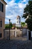 Dzwonkowy wierza kościół St Constantine i Helena w Plovdiv, Bułgaria zdjęcia royalty free