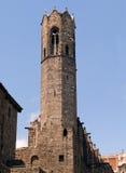 Dzwonkowy wierza Królewska kaplica St Agatha, Barcelona Obraz Stock