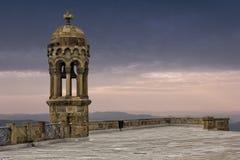 Dzwonkowy wierza na górze Tibidabo góry Zdjęcie Stock