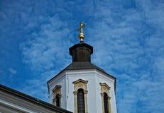 Dzwonkowy wierza na kościół w monasterze Krusedol, Serbia Zdjęcia Royalty Free
