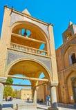 Dzwonkowy wierza na kolumnach, Vank katedra w Isfahan, Iran Fotografia Stock
