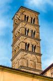 Dzwonkowy wierza przy kościół Santa Francesca Romana, Rzym Obrazy Royalty Free