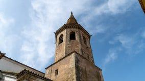 Dzwonkowy wierza St John kościół baptystów w Tomar, Portugalia obrazy royalty free