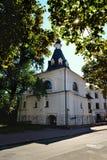 Dzwonkowy wierza St Nicholas kościół Dobry, Kijów Zdjęcia Stock