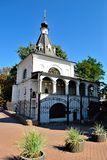 Dzwonkowy wierza St Nicholas kościół Dobry, Kijów Zdjęcia Royalty Free
