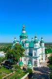 Dzwonkowy wierza Troitskyi monaster w Chernihiv obraz stock