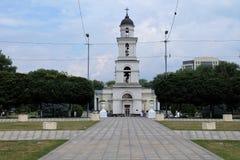 Dzwonkowy wierza w centrum miasta Chisinau, Moldowa Fotografia Stock