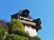 Dzwonkowy wierza w Graz w Austria lub glockenturm Fotografia Stock