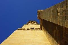 Dzwonkowy wierza w Labastida w baskijskim kraju zdjęcia stock