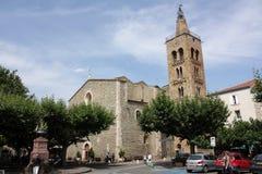 Dzwonkowy wierza w Prades, Francja Zdjęcia Stock