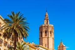 Dzwonkowy wierza w Walencja Hiszpania obrazy royalty free