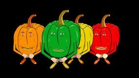 4 Dzwonkowych pieprzy cichy wstęp royalty ilustracja