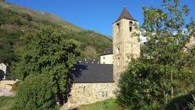 Dzwonnica i kościół Sant Joan De Boi, Catalonia, Hiszpania Romańszczyzna styl zbiory