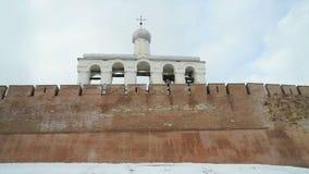 Dzwonnica Novgorod Kremlin, Veliky Novgorod, Rosja zdjęcie wideo