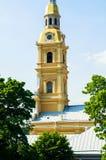 Dzwonnica Peter i Paul katedra - zbliżenie widok od wzrosta paul forteczny st Peter Petersburg Russia zdjęcie royalty free