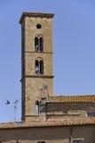 Dzwonnica przy Volterra w Włochy Obraz Royalty Free