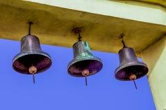 Dzwony na tła niebie Obraz Royalty Free