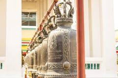 Dzwony w kanlayanamit świątyni Fotografia Royalty Free