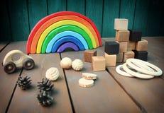 Eсo wooden toys Royalty Free Stock Photo
