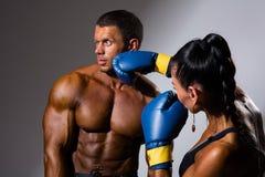 Żeńscy i męscy boksery Zdjęcie Royalty Free