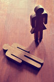 Żeńscy i Męscy symbole kreatywnie Obraz Stock