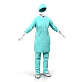 Żeńska chirurg suknia na Białym tle Zdjęcie Stock