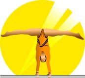 Żeńska gimnastyczka w słońcu Obrazy Stock