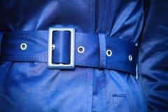 Żeńska moda Zbliżenie żakieta dowcipu błękitny pasek Zdjęcia Royalty Free
