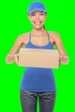 Żeńska pakunku dostawy osoba Zdjęcie Royalty Free