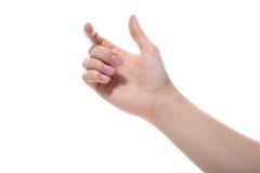 Żeńska ręka Obrazy Stock