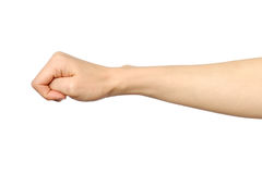 Żeńska ręka seansu krzywda pięść Obrazy Royalty Free