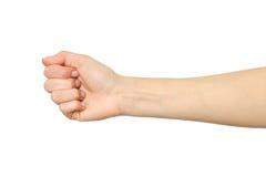 Żeńska ręka seansu krzywda pięść Fotografia Stock