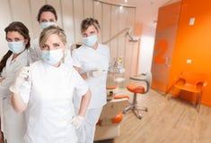 Żeńska stomatologiczna drużyna zdjęcie stock