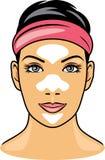 Żeńska twarz z czyścić por paski Obraz Stock