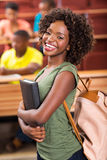 Żeński afrykański student uniwersytetu zdjęcia stock