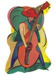 Żeński basista royalty ilustracja