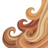 Żeński Bieżący włosy ilustracja wektor