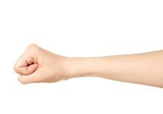 Żeński caucasian ręka gest odizolowywający Zdjęcie Royalty Free