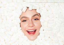Żeński dace w marshmallow Obraz Royalty Free