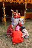Żeński Hinduski dewotek plotkować Obrazy Stock