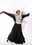 Żeński hiszpański flamenco tancerz Zdjęcia Stock