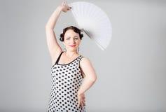 Żeński hiszpański flamenco tancerz Zdjęcia Royalty Free