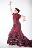 Żeński hiszpański flamenco tancerz Obrazy Royalty Free