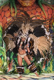 Żeński karnawałowy tancerz Zdjęcie Royalty Free