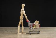 Żeński mannequin zakupy Zdjęcia Royalty Free