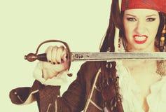 Żeński pirata kostium Obraz Royalty Free