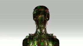 Żeński robot ilustracja wektor